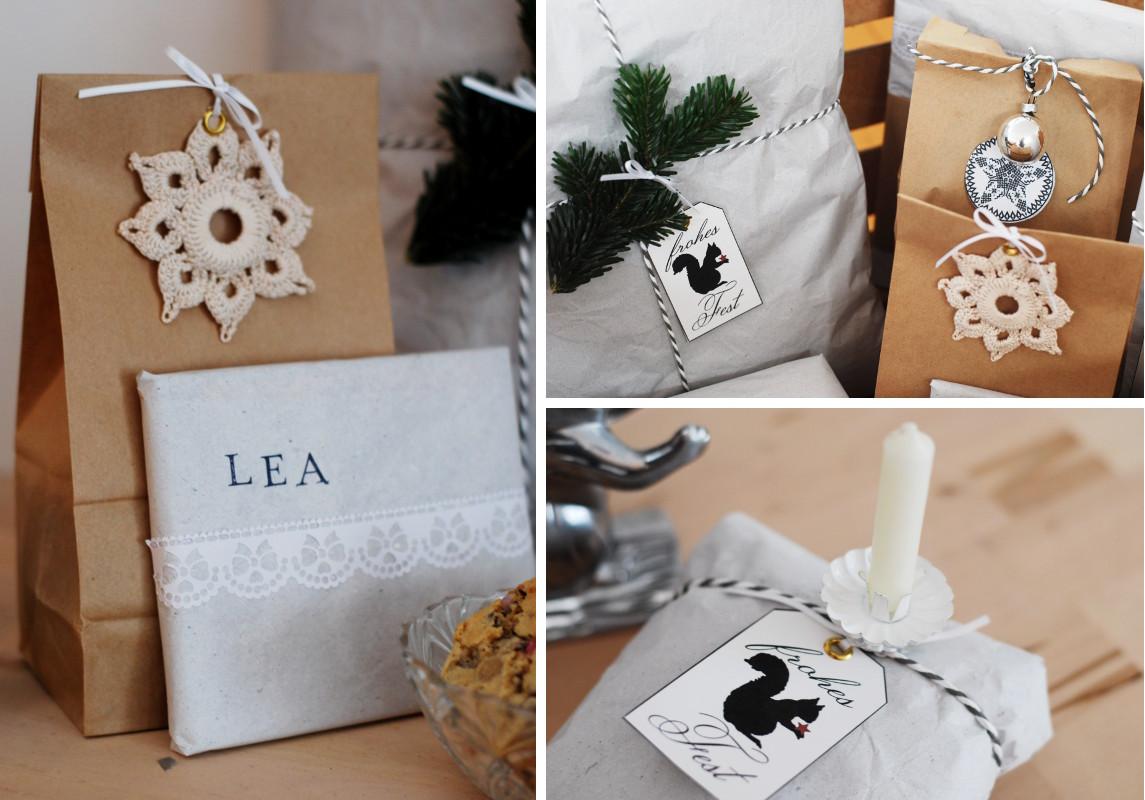Geschenke Verpacken Mit Packpapier Leelah Loves