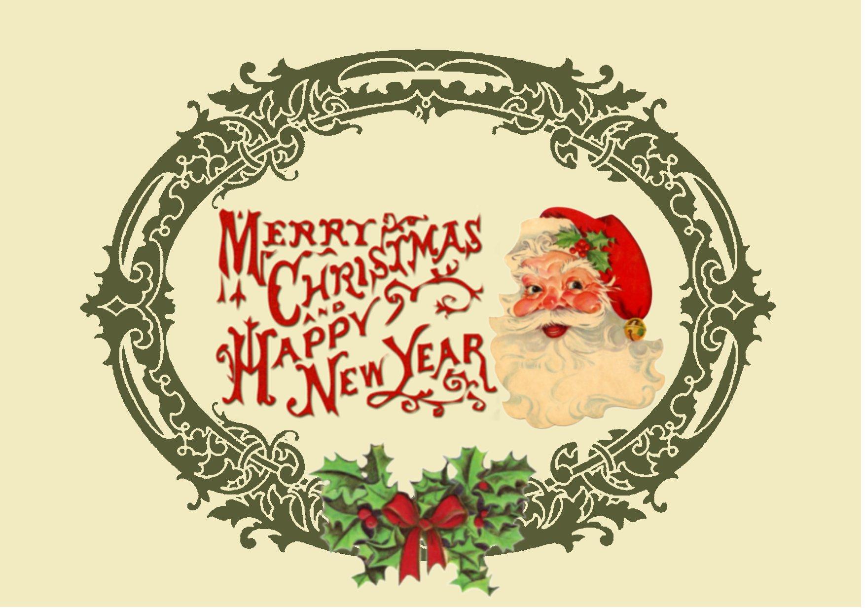 Vintage Bilder Weihnachten.Vintage Weihnachtskarte Merry Christmas Leelah Loves