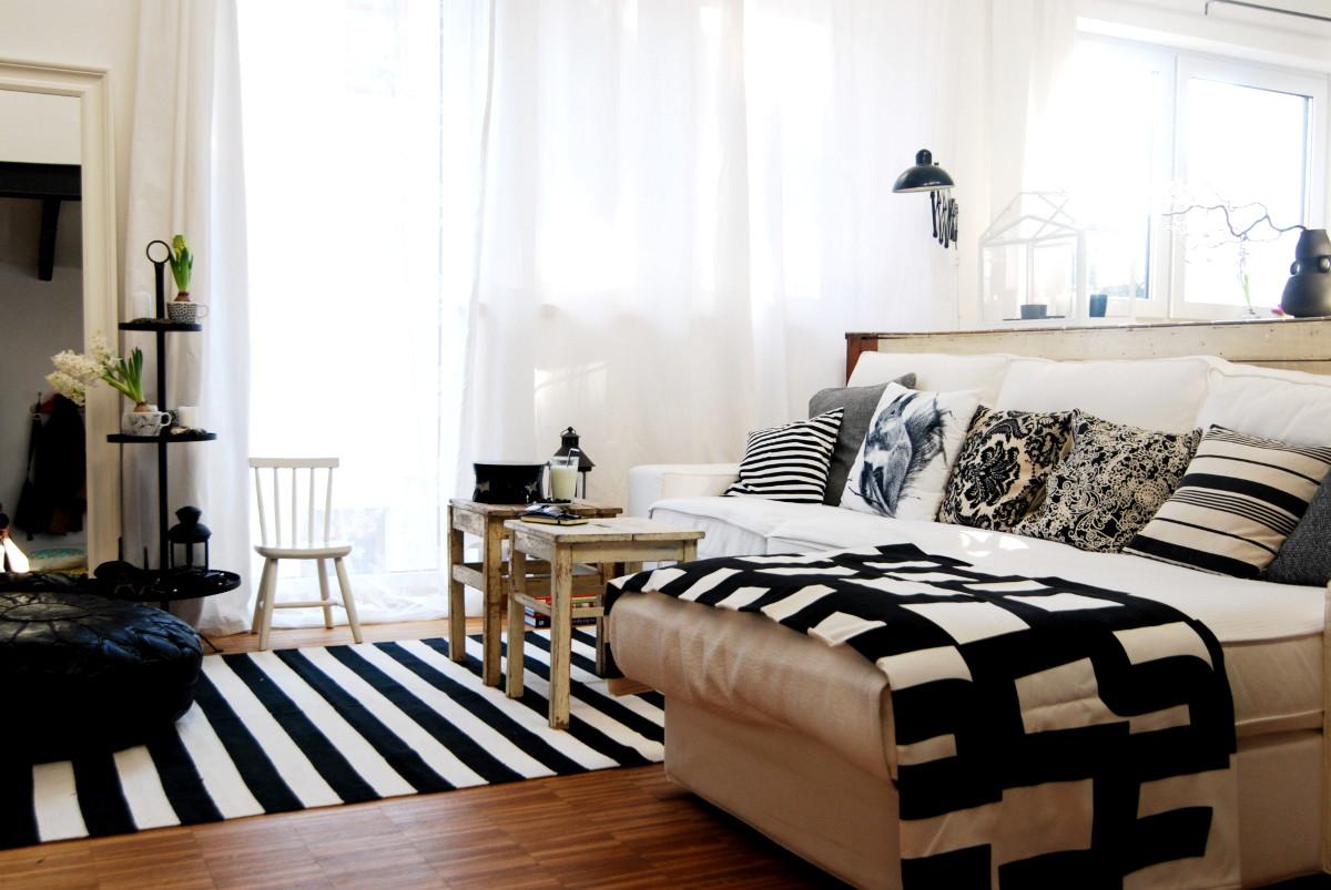 Wohnzimmer komplett in Schwarz Weiß - Leelah Loves