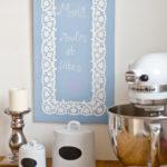 Tafel mit selbstgemachter Tafelfarbe