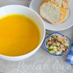 Karotten-Orangensuppe mit Räucherlachstartar