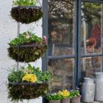 Hanging basket auf drei Etagen