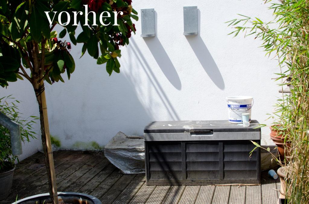 ecke auf der terrasse vorher. Black Bedroom Furniture Sets. Home Design Ideas