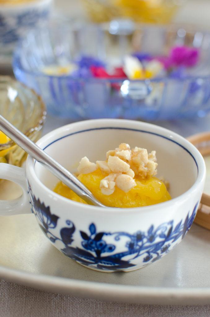 sun kissed mango sorbet mit cashew krokant leelah loves. Black Bedroom Furniture Sets. Home Design Ideas