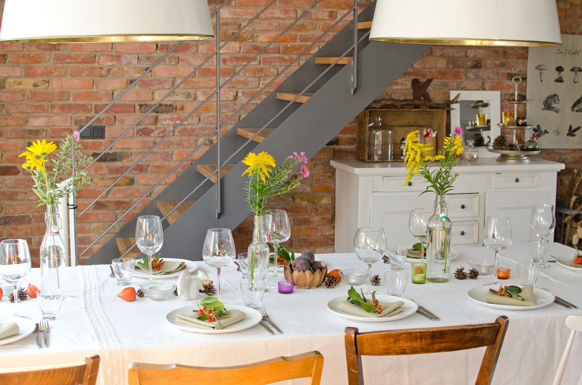 Einfache Tischdeko Selber Machen Herbst Herbst Diy Inspiration