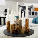 Kerzenleuchter aus Holz