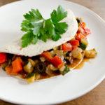 Keine Zeit zum Mittagessen (5): vegane Tortillas mit italienischem Gemüse