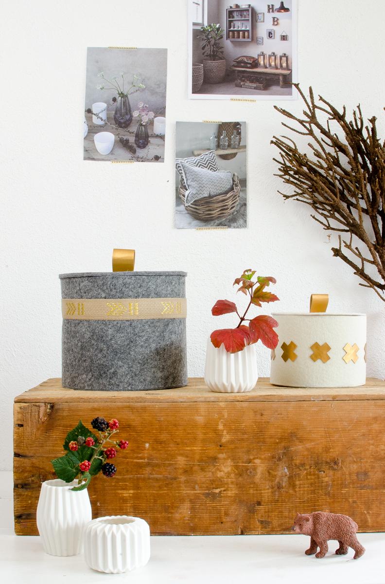diy filzk rbe mit deckel ohne n hen leelah loves. Black Bedroom Furniture Sets. Home Design Ideas