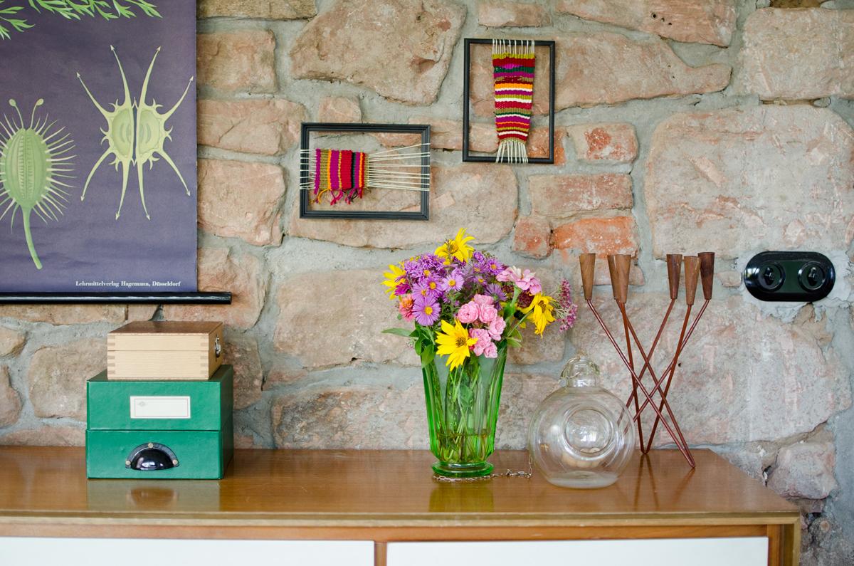 DIY gewebte Wanddeko im Bilderrahmen