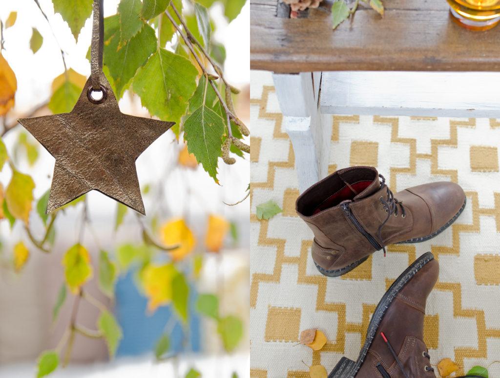 Anleitung für DIY upcycling: alte Pullis werden zu Kissen mit THINK! Schuhen