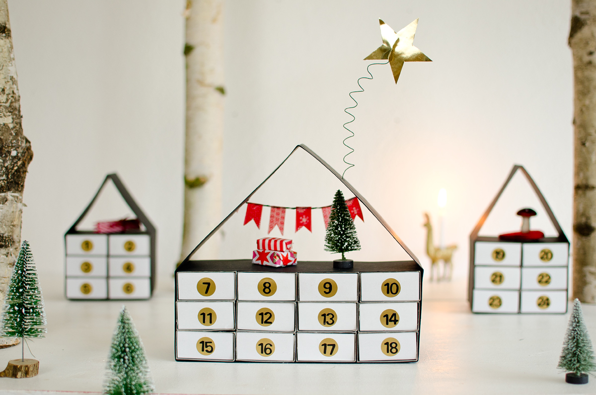 diy adventskalender dorf leelah loves. Black Bedroom Furniture Sets. Home Design Ideas