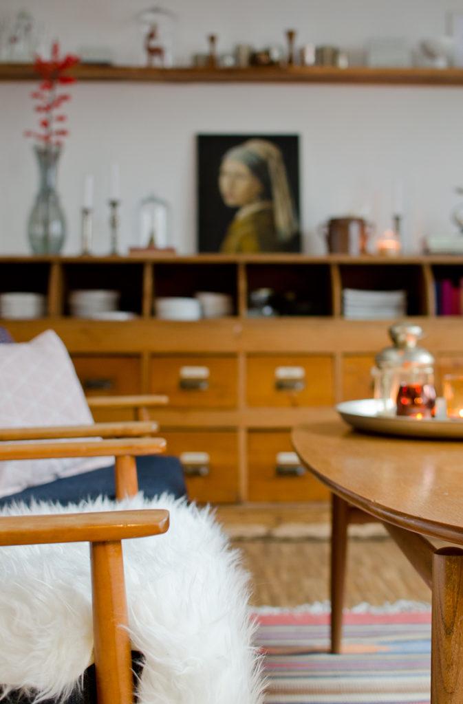 Dekoideen mit vintage Deko und Möbeln im Herbst