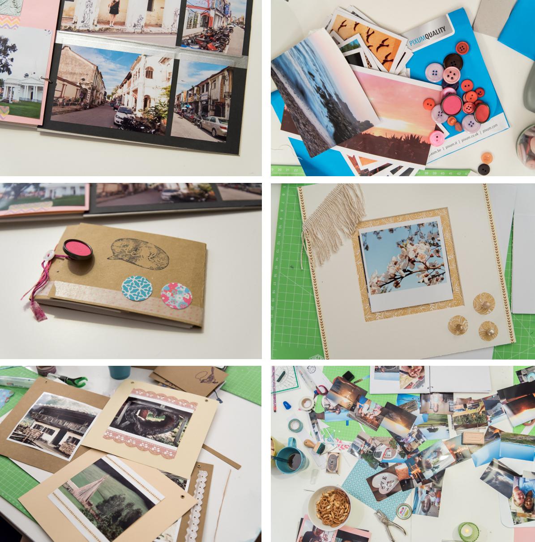 Anleitung für ein einfaches DIY Fotoalbum als Weihnachtsgeschenk und Bilder vom DIY Workshop bei Leelah loves im Atelier in Aschaffenburg