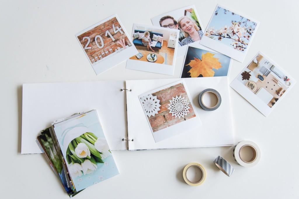 Anleitung für ein einfaches DIY Fotoalbum als Weihnachtsgeschenk