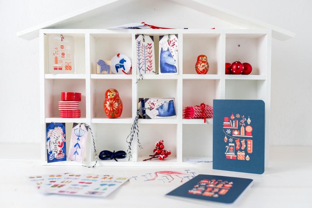 Giveaway mit Leelah loves und Dawanda im Advent mit Papeterie, Stempeln und Weihnachtskarten