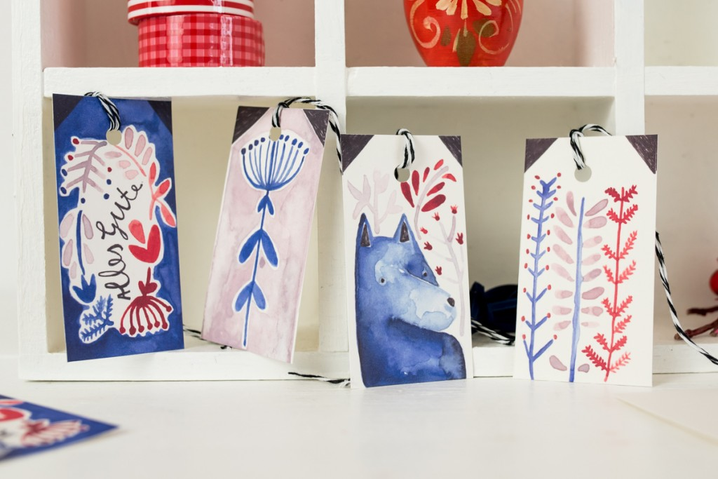 Geschenkanhänger und Weihnachtskarten Giveaway mit Leelah loves und Dawanda für Weihnachten