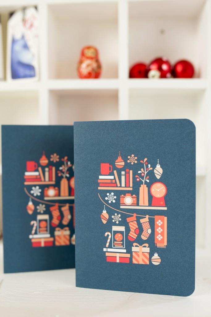 Papeterie Giveaway mit Weihnachtskarten und Geschenkanhängern von Dawanda