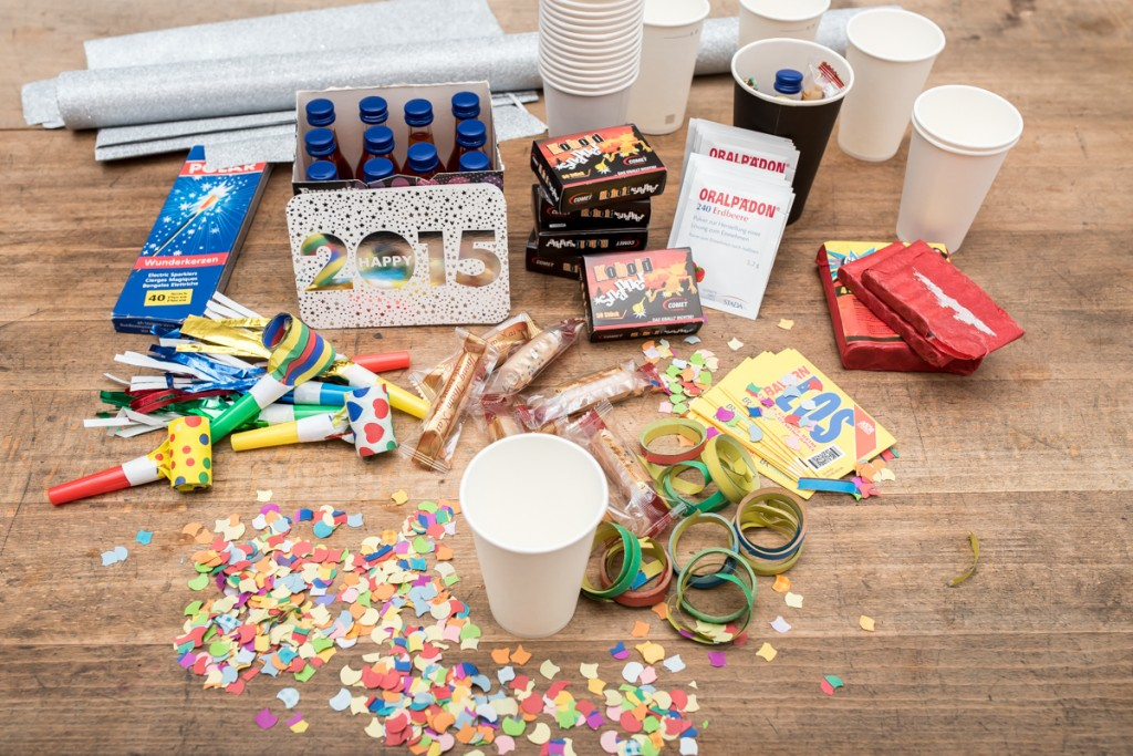 DIY Becher als Mitbringsel für die Silvester Party