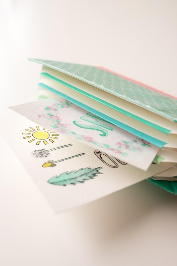 DIY Frühlings Papeterie in Pastellfarben und selbst gemachte Fächermappe aus Papier