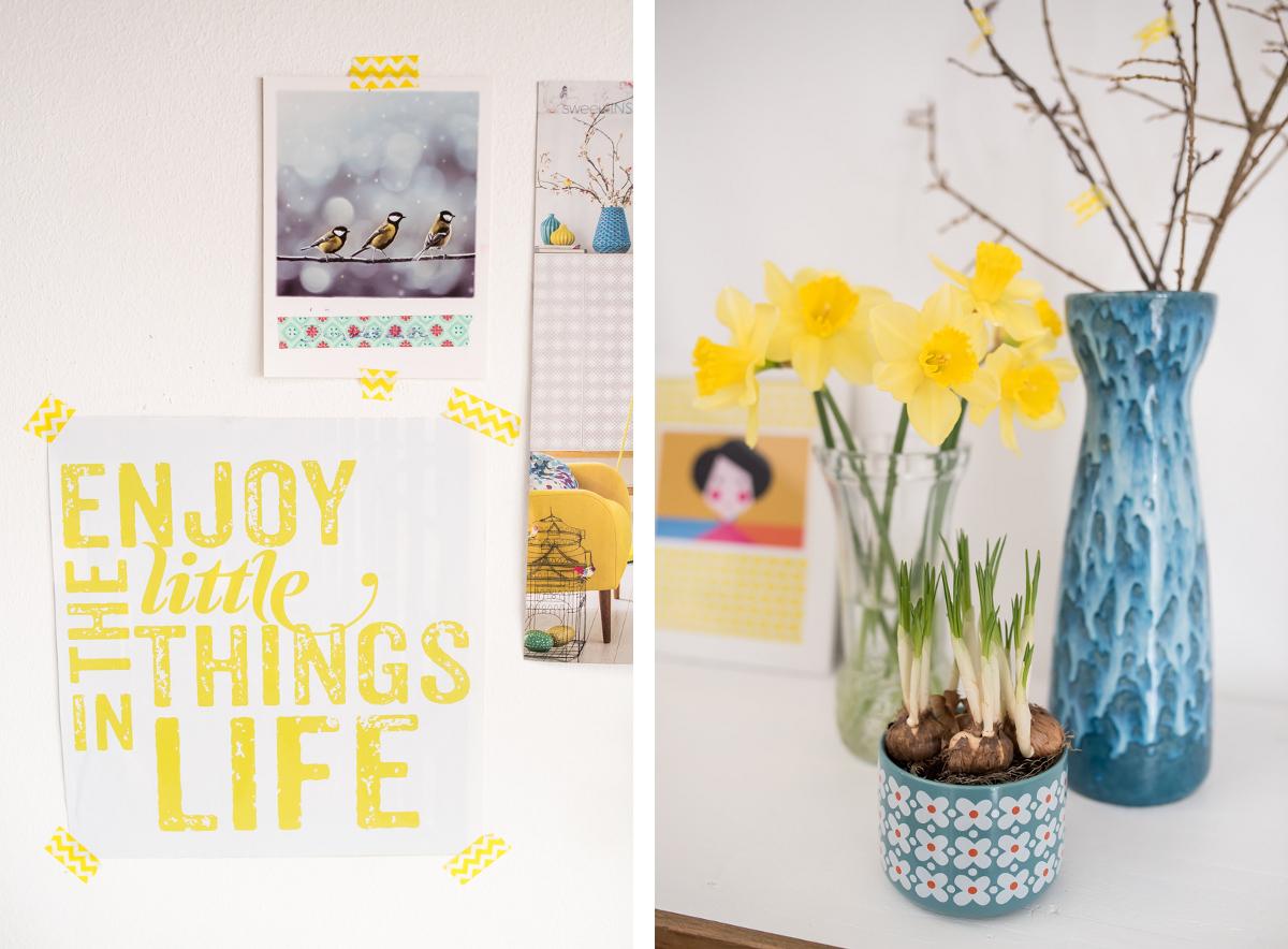 Frühlingsdeko mit jeder Menge Gelb - Leelah Loves