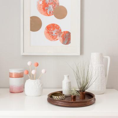 diy – Papier marmorieren und Deko für die Wand