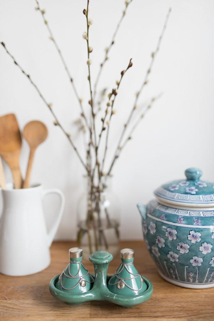 Küchendeko im vintage Look  und Deko in frischen Farben im Frühling