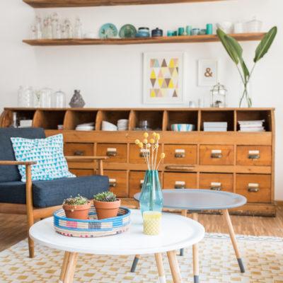 Wohnzimmer im April und Flohmarktfund