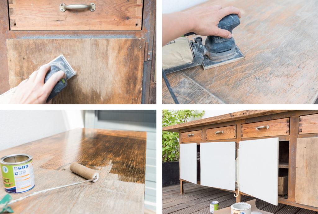 diy upcycling outdoor k che aus einer werkbank leelah loves. Black Bedroom Furniture Sets. Home Design Ideas