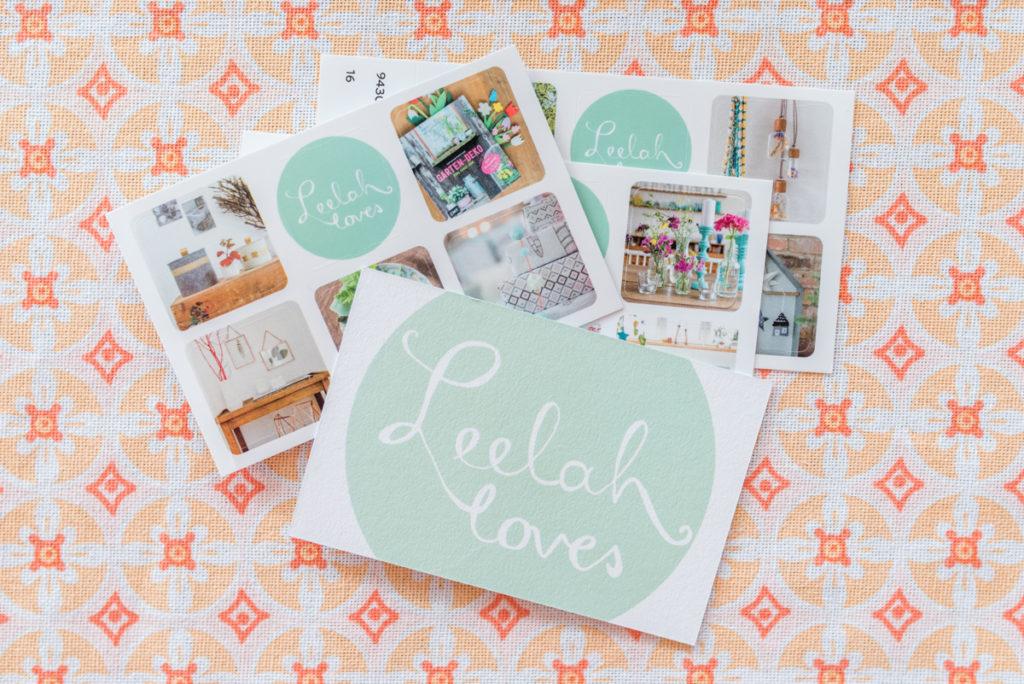 Leelah loves im neuen Look mit Visitenkarten von moo