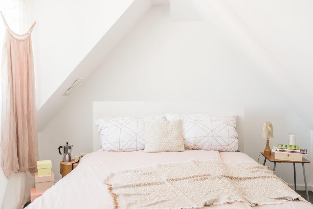 Wohnideen im Boho Loft mit  Deko Ideen im vintage Look für das Schlafzimmer