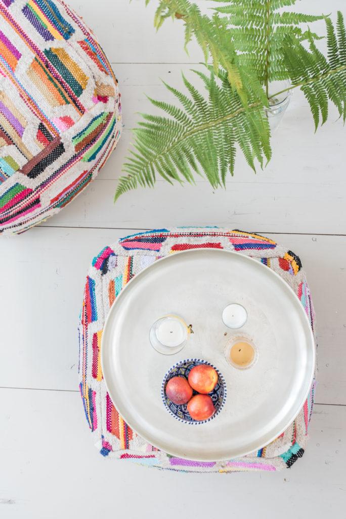 Dekoideen für das Wohnzimmer im Sommer im bunten Boho vintage Look mit orientalischem Flair