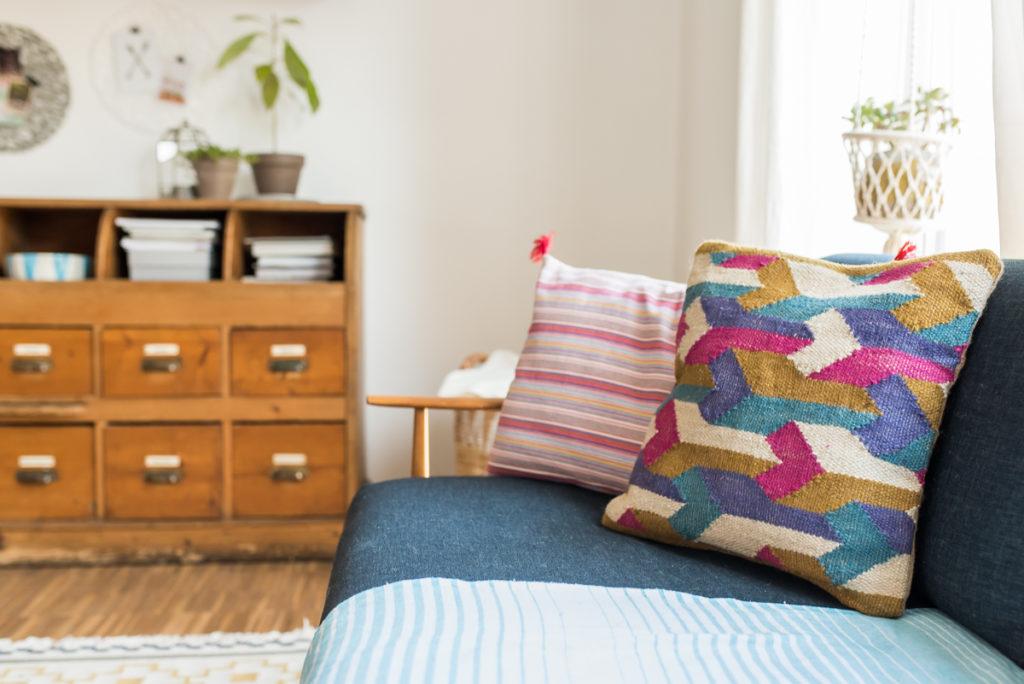 Dekoideen für das Wohnzimmer im Boho vintage Look für den Sommer