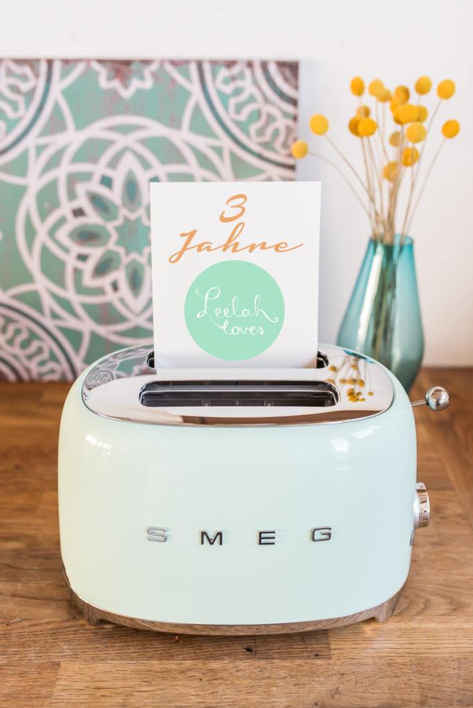 Vintage Retro Toaster in Mintgrün von SMEG zu gewinnen bei Leelah loves
