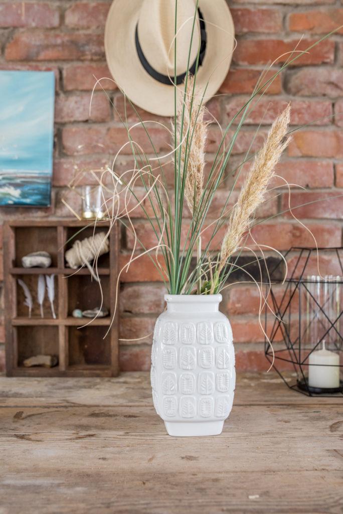 Dekoideen im Boho Stil mit vintage Deko für das Wohnzimmer im Herbst