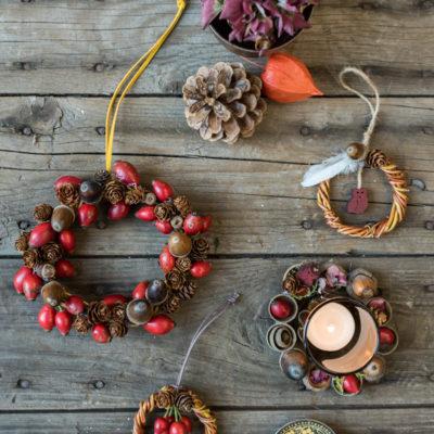 Kleine Herbstkränze und Gewinnerin