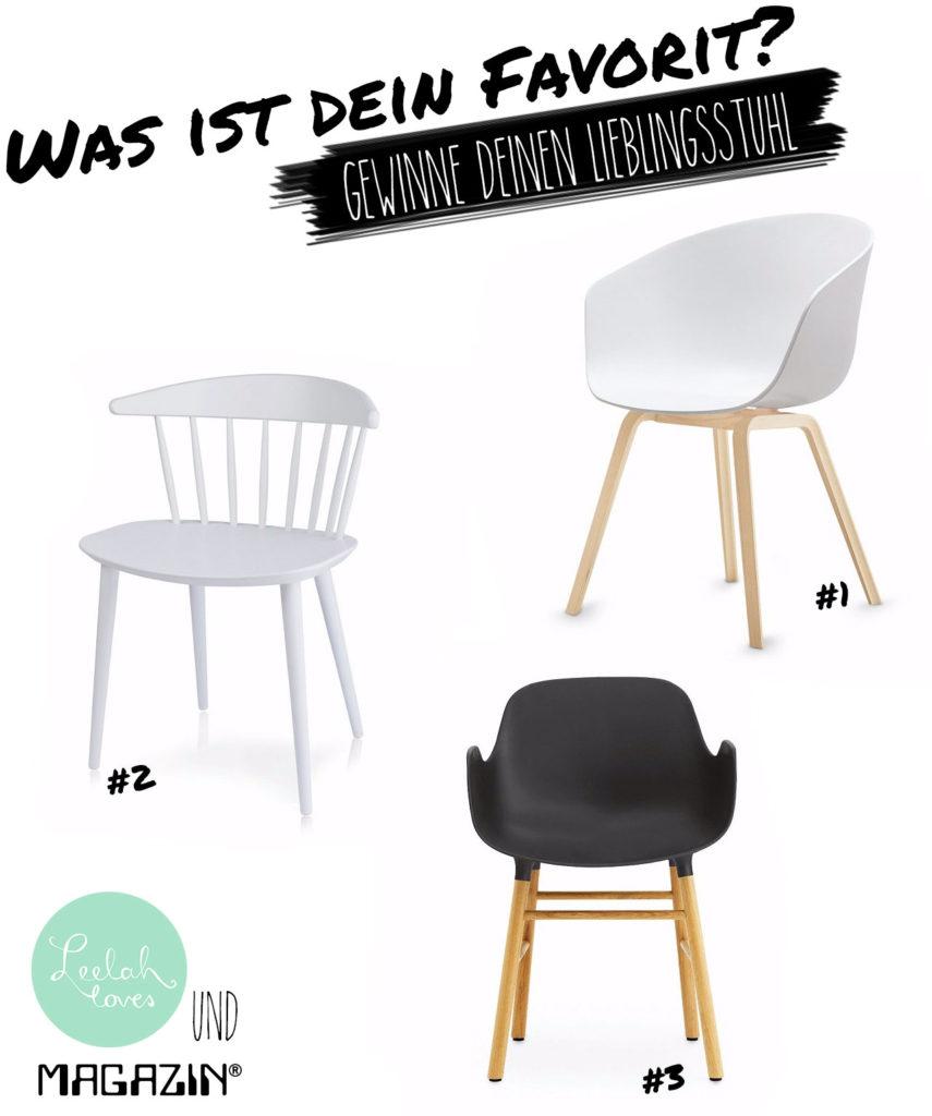 Gewinne einen Designerstuhl von HAY oder Normann Copenhagen mit Leelah loves und Magazin