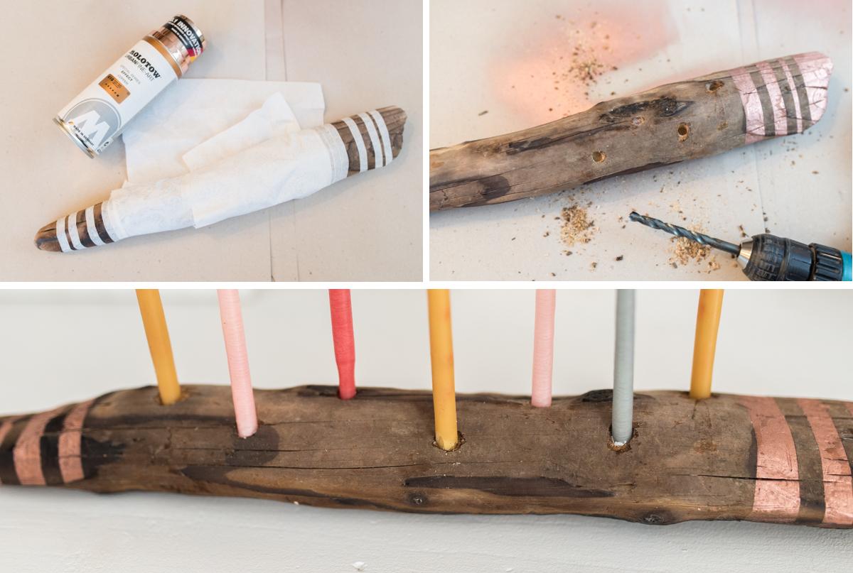 DIY - Kerzenleuchter aus Treibholz - Leelah Loves