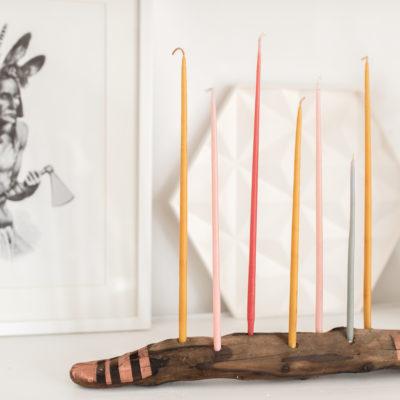 DIY – Kerzenleuchter aus Treibholz