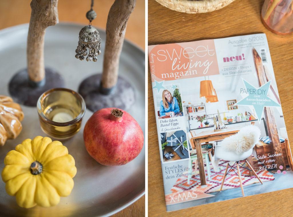 selbst gemachter DIY Kerzenleuchter im Boho Look als do it yourself Deko im Wohnzimmer im Herbst