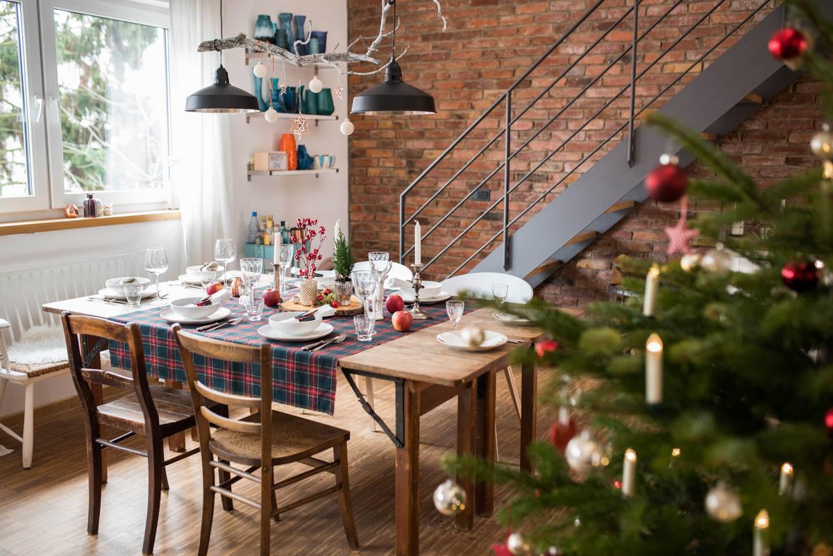 Frohliche Weihnachten Meine Tischdeko Im Rustikalen Blockhutten