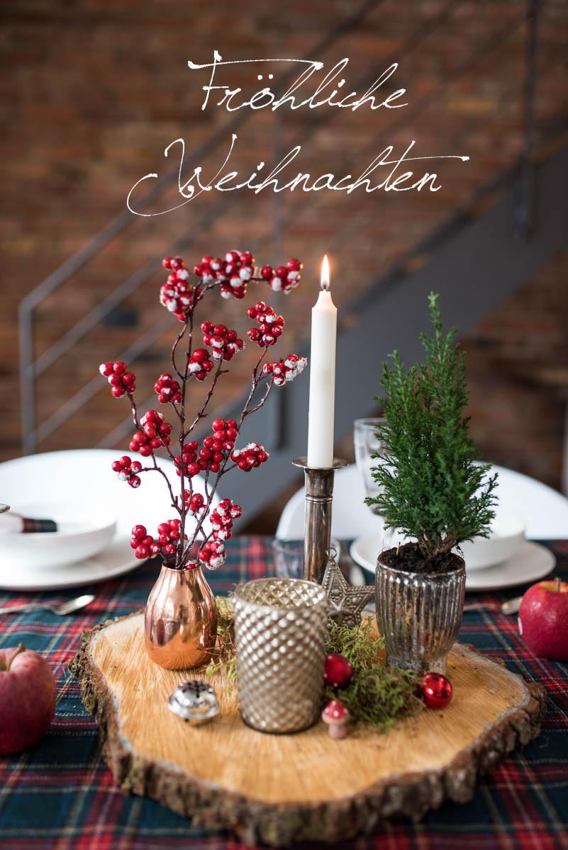 Fröhliche Weihnachten - meine Tischdeko im rustikalen