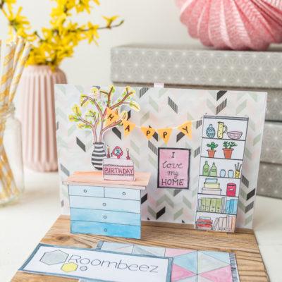 Happy Birthday Roombeez: DIY Pop up Karte