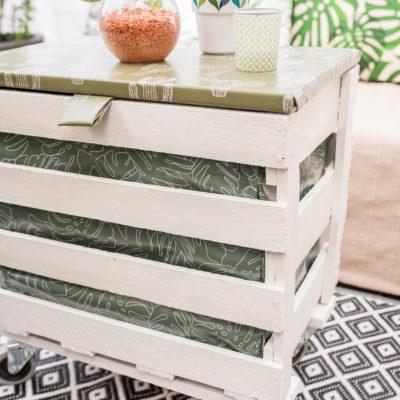 DIY – upcycling Balkontisch auf Rollen + Gewinnspiel