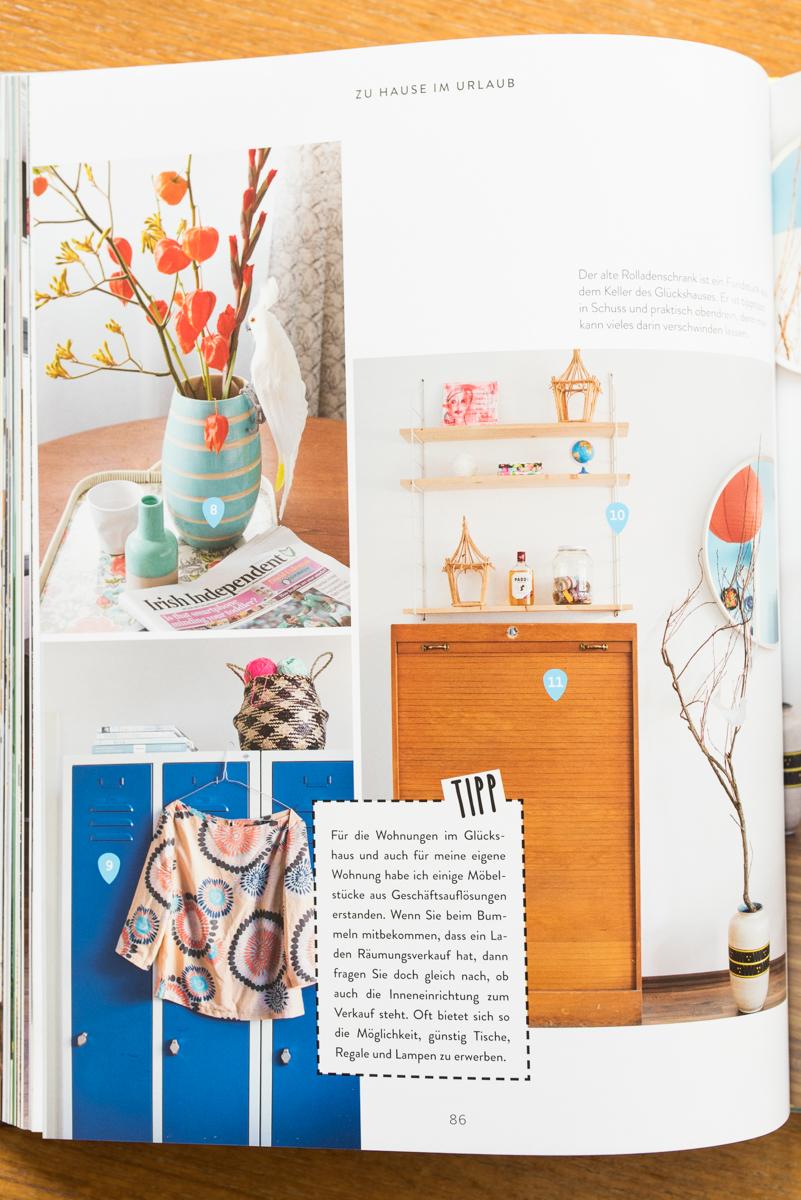 Buchvorstellung Wohnen unter 1000 Euro von Julia Ballmaier mit günstigen Dekoideen im vintage Look