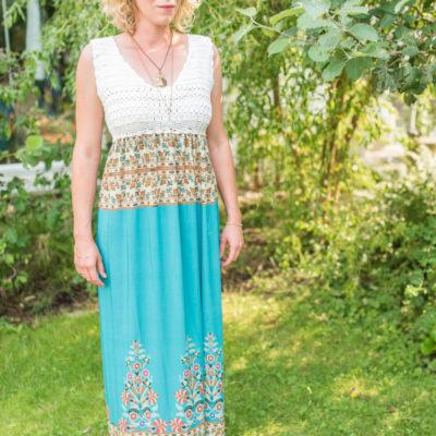 Upcycling Inspiration: mein Boho Sommerkleid