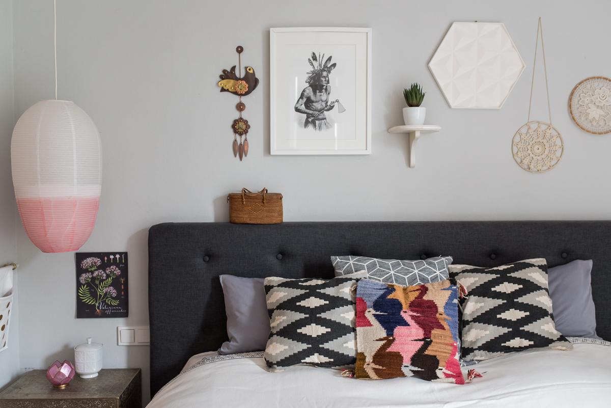 Einrichtungsideen und Deko im Schlafzimmer im Boho vintage Look