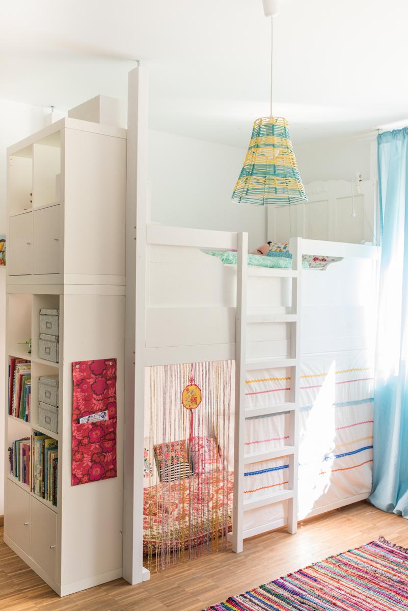 ein selbst gebautes hochbett im kinderzimmer leelah loves