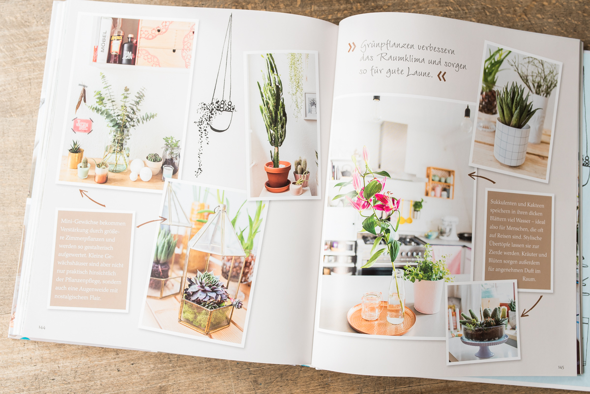Deko und Einrichtungs Ideen für kleine Wohnungen im Buch mein kleines Zuhause von Marion Hellweg