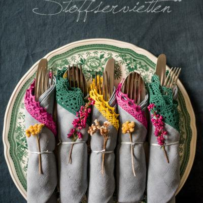 Aus alt mach neu: DIY Servietten färben und verzieren