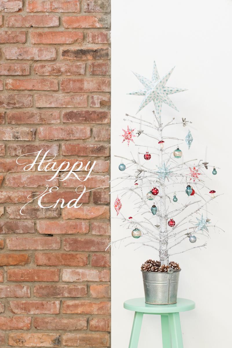 upcycling Weihnachtsdeko aus einem alten Tannenbaum mit Sprühlack